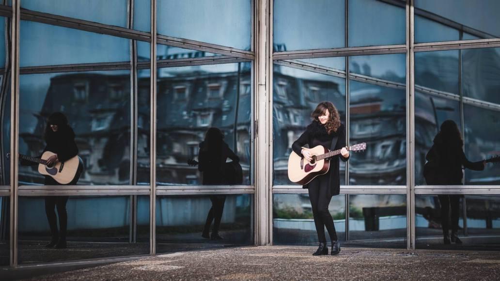 reflets avec guitare